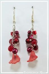 Boucles d'oreilles Chaplin - Couleur Rouge