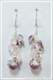 Boucles d'oreilles Pandora - Couleur Vieux Rose
