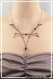 Collier Indigo - Couleur Violet et Rouge