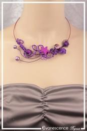 Collier Patou - Couleur Violet