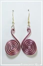 Boucles d'oreilles Pastille - Couleur Rose