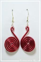 Boucles d'oreilles Pastille - Couleur Rouge