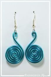 Boucles d'oreilles Pastille - Couleur Turquoise