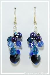 Boucles d'oreilles Capucine - Couleur Bleu indigo