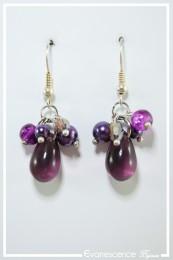 Boucles d'oreilles Cachou - Couleur Violet
