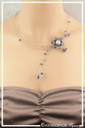 Collier Gabi - Couleur Bleu et Turquoise