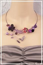 Collier Aya - Couleur Violet