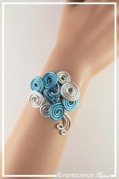 Bracelet Caprice - Couleur Argent et Turquoise