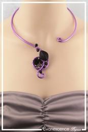 Collier Marylin - Couleur Violet et Noir