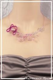 Collier Pandora - Couleur Rose et Argent