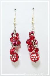 Boucles d'oreilles Foxi - Couleur Rouge