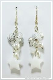 Boucles d'oreilles Voxane - Couleur Blanc