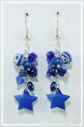 Boucles d'oreilles Voxane - Couleur Bleu marine