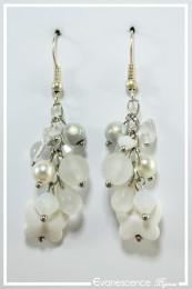 Boucles d'oreilles Willow - Couleur Blanc