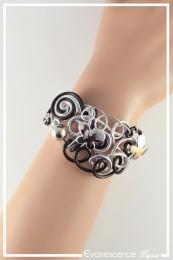 Bracelet Diamant - Couleur Noir et Argent