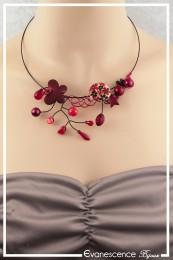Collier Elsa - Couleur Rouge et Noir