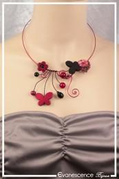 Collier Maya - Couleur Rouge et Noir