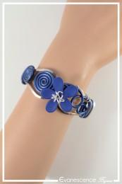Bracelet West - Couleur Bleu roi et Argent