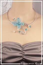 Collier Kami - Couleur Blanc et Turquoise