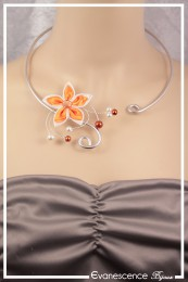 Collier Margot - Couleur Blanc et Orange