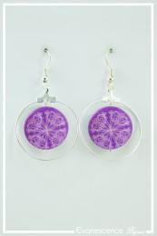 Boucles d'oreilles Fiona - Couleur Violet
