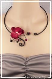 Collier Fada - Couleur Noir et Rouge