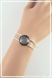 Bracelet Mandala (M2) - Couleur Noir et Blanc