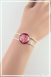 Bracelet Cœur de cœur - Couleur Rouge et Blanc