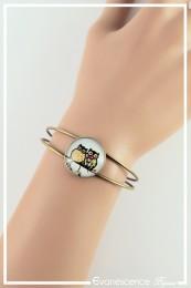 Bracelet Chouette - Couleur Noir et Jaune