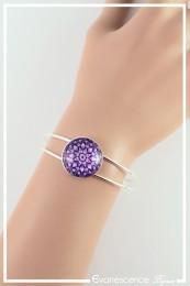 Bracelet Mandala - Couleur Violet et Blanc
