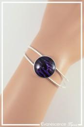 Bracelet Zebré - Couleur Noir et Violet