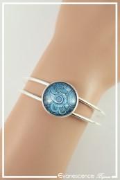 Bracelet Cachemire - Couleur Bleu et Blanc