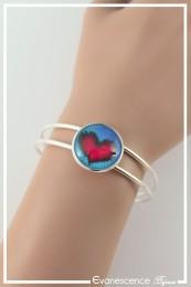 Bracelet Cœur - Couleur Bleu et Rouge