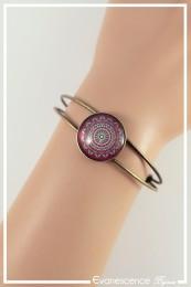 Bracelet Mandala - Couleur Violet et Vert anis