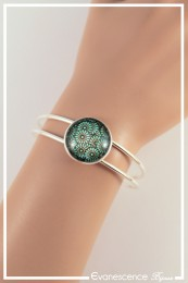 Bracelet Motif fleuri - Couleur Vert
