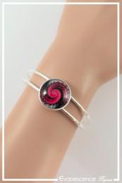 Bracelet Spirales - Couleur Noir et Rouge