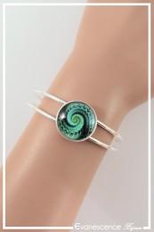 Bracelet Spirales - Couleur Noir et Vert