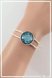Bracelet Cachemire - Couleur Bleu et Turquoise