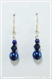 Boucles d'oreilles Becky - Couleur Bleu indigo