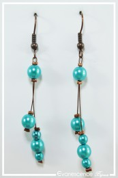 Boucles d'oreilles Louna - Couleur Turquoise