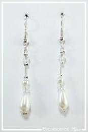 Boucles d'oreilles Iris - Couleur Blanc